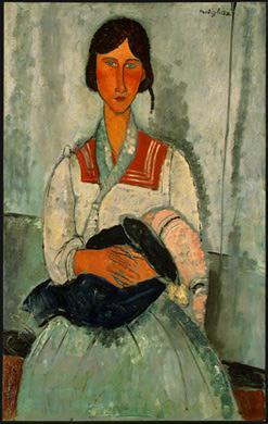 """Gitana con niño"", Modigliani."