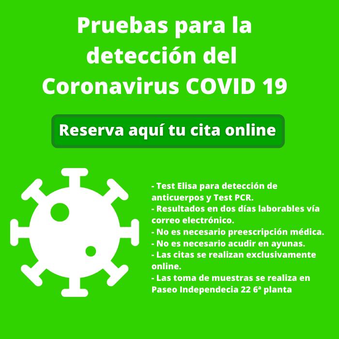 Pruebas PCR Coronavirus